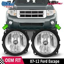 For 2007-2012 Ford Escape Winjet OE Factory Fit Fog Light Bumper Kit Clear Lens