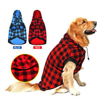 Pet Large Dog Clothes Jacket Removable Hoodie Sweater Winter Warm Coat Size L-XL