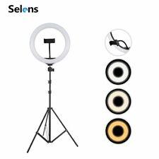 Selens 26cm LED Ring Light Dimmable Video Live Selfie Studio Lighting +2m Tripod
