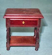 VINTAGE NIGHT STAND OR LAMP TABLE MAHOGANY #1139 DOLLHOUSE FURNITURE MINIATURES