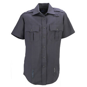Spiewak Men's Short Sleeve Uniform Duty Shirt Dark Navy Size Large NEW