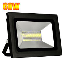 UK 60W Day White LED Flood Light Safety Outdoor Waterproof Landscape Glass Lamp