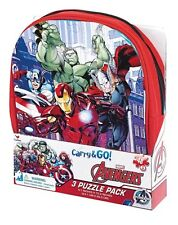Avengers Carry and Go 24 Piece Puzzle 3-Pack NEW