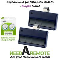 2 Replacement for Liftmaster 373LM Car Garage Door Remote Opener Blue