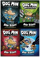 Dav Pilkey Adventures of Dog Man Series 4 Books collection set Children's pack