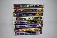 8 Disney VHS Masterpiece Lot/Bundle Snow White Cinderella Lion King and more