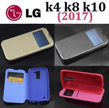 Funda ventana para LG K4 K8 K10 (2017)  tapa con cierre imán calidad