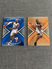 2008-09 Upper Deck Starquest Lebron James Michael Jordan  2 Card Lot