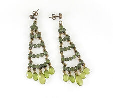 HORSE & WESTERN JEWELLERY JEWELRY LADIES CHANDLIER EARRINGS  OLIVE  GREEN