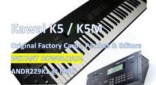 Kawai K5 / K5M - Original Factory Cards, Patches & Editors - INSTANT D0WNLOAD