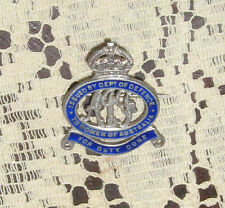 WW1 To The Women of Australia Badge Scarce Silver