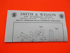 SMITH AND WESSON 9MM DOUBLE ACTION SEMI-AUTO MODEL 59 PISTOL MANUAL dated 1977