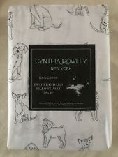 CYNTHIA ROWLEY Dogs Puppy's Standard Pillowcases Set Of 2