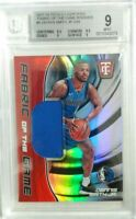 Dennis Smith Jr 2017 Totally Certified Rookie Fabric Of The Game /249 BGS 9 Mint