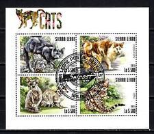 Chats Sierra Leone (35) série complète de 4 timbres oblitérés