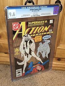 SPECTACULAR DC Action Comics #595 First Appearance of Silver Banshee CGC 9.6 NM+