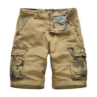 Men's Camouflage Shorts Cargo Pants Pocket Loose Casual Outdoor Comfort Pants
