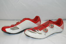 White Red Specialized S-Works RD Narrow 45A 11.5 Cycling Shoe Road Bicycle Shoes