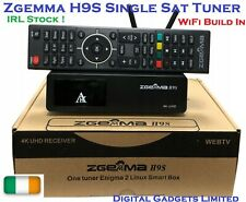 Genuine Zgemma H9S 4K UHD DVB-S2X Satellite Single Tuner WiFi Build, IRL Stock!