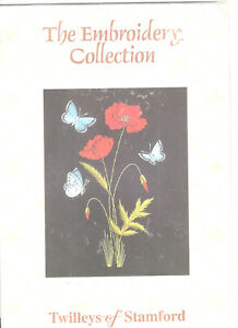 Poppies and Butterflies Helen Stevens Embroidery Kit Twilleys of Stamford