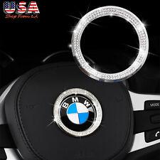 Steering Wheel Center Logo Crystal Diamond Trim Ring for BMW F10 F18 F25 E90 E92