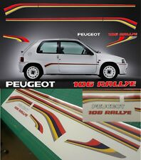 Peugeot 106 Rallye decals stickers graphics replacement restoration 1.6 MK 1 MK1