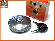 Fahler Polished STAINLESS STEEL Locking Fuel Petrol Cap FORD ANGLIA 100E 105E