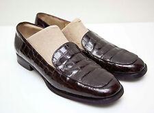Bruno Magli Dark Brown Patent Leather Loafers