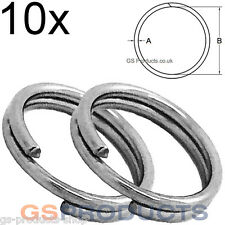 10x 30mm Stainless Steel Split Clevis Key Ring FREE Postage & Packaging!