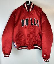 Vtg 1988 Starter Chicago Bulls Satin Jacket Men's XL The Last Dance USA 1st Gen