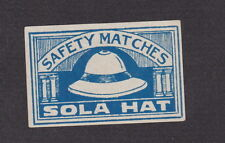Ancienne étiquette  allumettes Inde  BN19387 Chapeau