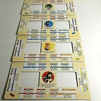 2004 Mall Madness By Milton Bradley 4 Replacement Shopping List Cards Only