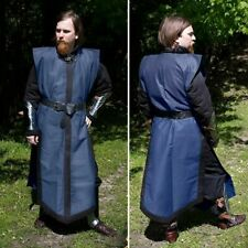 LARGE SIZE Viking Tunic Blue&Black Quality Cotton Accurate Medieval Costume