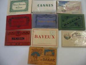 10 Older Foreign Postcard Folders Lot 1