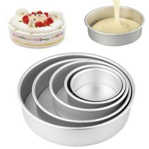 Deep Cake Pan Set, Aluminum Alloy Round Baking Pans, for Birthday Wedding ~