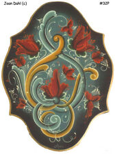 Norwegian Telemark Tulip Plaque Rosemaling Packet by Joan Dahl FREE SHIPPING 32P