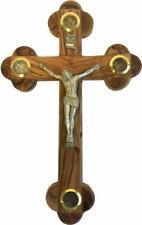 Cross Crucifix Orthodox 14 Station 4 Lens Olive Wood 11 Inch Jerusalem