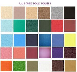 DOLLS HOUSE STAIR CARPET RANGE OF COLOURS  MINIATURE CARPET  JULIE ANNS