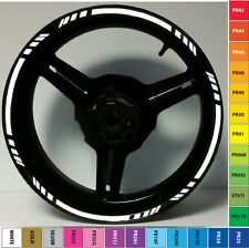 GREY/SILVER REFLECTIVE MOTORCYCLE RIM STRIPES WHEEL DECALS TAPE STICKERS GP STYL