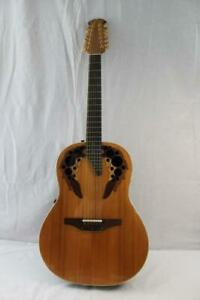Ovation 1758 Elite 1991 DeepBowl Acoustic Electric 12 String Guitar