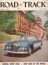 Road & Track January 1955 Chia-Bodied Cadillac, Alvis Speed 20 052417nonDBE