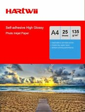 Hartwii 25 Sheet A4 135Gsm Self-adhesive Sticky high Glossy Photo Paper Print UK