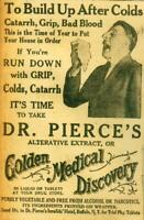 Advertising Dr. Pierce's Golden Medical Discovery Cures Catarrh,Grip,Colds 1924