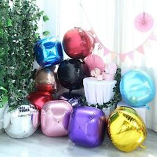 18-Inch wide 4D Round Balls Orbs Mylar Foil Balloons Party Decorations Supplies