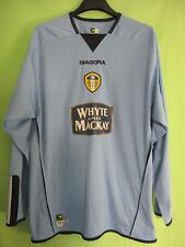 Maillot Leeds United 2004 Third Diadora White Mackay Vintage Football Jersey - L