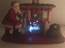 Vintage Midwest Importers Electric Fireplace & Santa Cast Iron