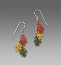 Sienna Sky 3 Part OAK LEAVES EARRINGS Sterling Silver Fall Autumn Colors - Boxed