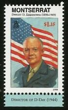 DWIGHT EISENHOWER PRESIDENT WWII D-DAY DIRECTOR BRIT. MONTSERRAT MINT MNH STAMP