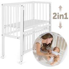 Fillikid Babybett Vario 2in1 Beistellbett & Stubenwagen höhenverstellbar - Weiß