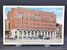 Atlantic City, N.J.~Hotel Morton~Virginia Ave.~Near Beach~Postcard~Unposted